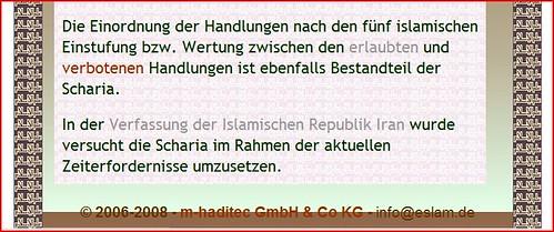 Muslim-Markt Scharia