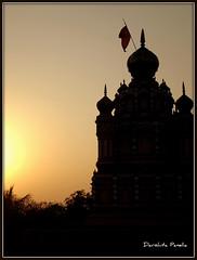 Temple (D a r s h i) Tags: sunset sun temple evening silhouettes pune mandir parvati