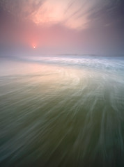 Avalon , NJ (Brett Cohen) Tags: ocean new sea sun mist color beach water fog sunrise canon landscape nj brett jersey 5d cohen avalon seacape aplusphoto
