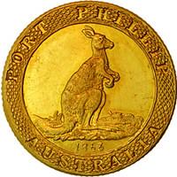 Australia Port-Phillip-Kangaroo-Office-Gold-Coin