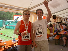 Charlie and I at the Finish (kaveman743) Tags: germany schluchsee badenwurttemberg