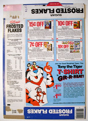 1978 Kellogg's Frosted Flakes Cereal Box Back (gregg_koenig) Tags: old kids breakfast vintage box cereal sugar 1978 1970s flakes 1980s premium kelloggs frosted premiums
