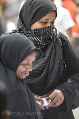 Two burkha clad women out to vote, Delhi (sanjayausta) Tags: street old people india streets photography democracy women asia day exercise general delhi indian muslim hijab exotic cast their vote elections niqab ethnic 2009 voting sanjay franchise lok austa sabha