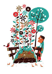 Migros Magazine editorial Illustration (Lindedesign) Tags: bird illustration garden gardening editorial compost migros
