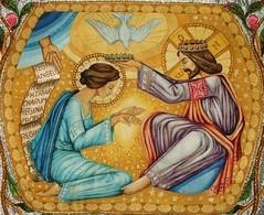 Coronación de María (arosadocel) Tags: mary religion capa virgen maría católico pluvial coronación