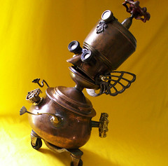 robot assemblage sculpture * PROFESSOR PORTLY - The Endlessly Curious Seeker Of Wisdom And Truth Steampunk Robot (Reclaim2Fame) Tags: sculpture metal altered vintage robot box recycled handmade assemblage oneofakind ooak humor personality robots binoculars figure figurine creatures creature foundobject bots trinket alteredart jewelrybox merz humanfigure recycledmaterial trinketbox metalrobot jewelryholder keepsakebox robotsculpture usableart artrobot steampunkart reclaim2fame steampunksculpture steampunkrobot assemblagerobot willwagenaar williamwagenaar steampunkassemblage junkrobot foundobjectrobot reclaimrobot reclamationart wagenaarstudio steampunkcreature
