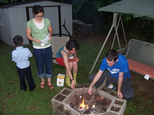 making s'mores