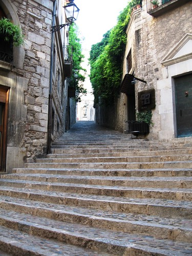 The Stairs of Barri Vell, Girona, Spain - 2