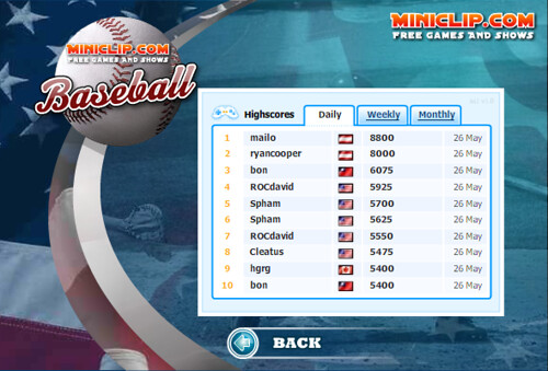 miniclip baseball highscore