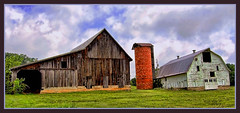 HEY HEY MY MY! (rods pix) Tags: county door blue trees red white black building tree abandoned barn photoshop virginia nikon midwest colorful decay farm south barns rusty southern abandon weathered farms closeups decayed dilapidated topaz d40 d40nikon musicbest mmmilikeit natrualwood