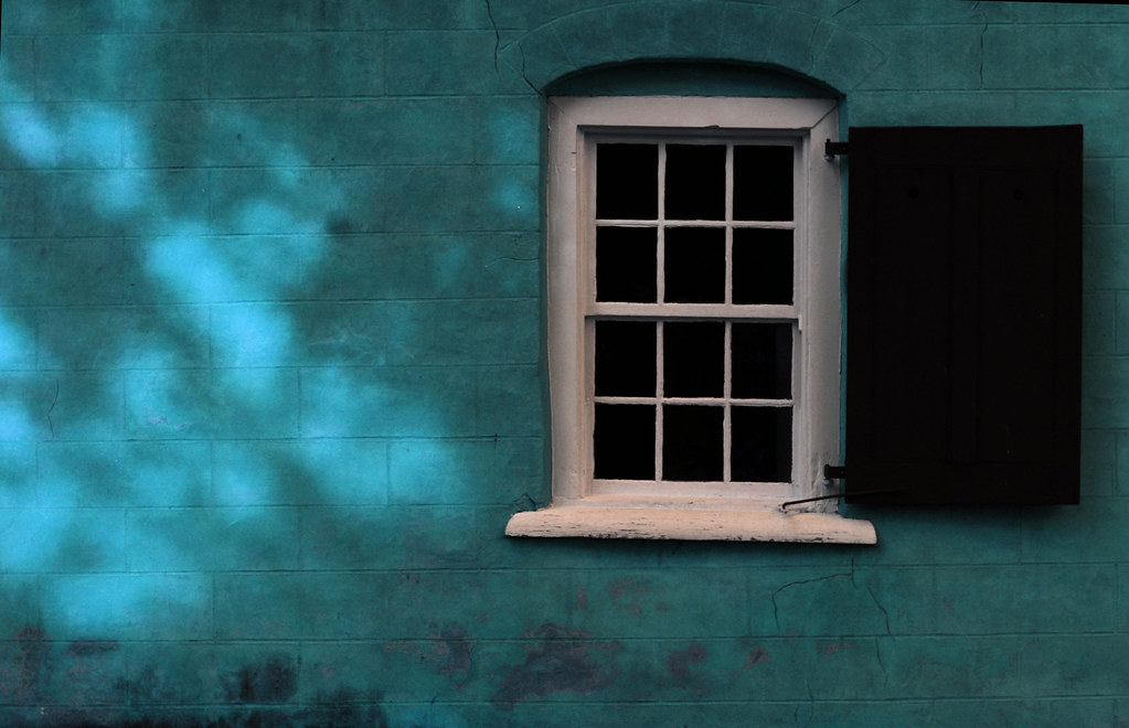 Blue Wall with a Moravian Window