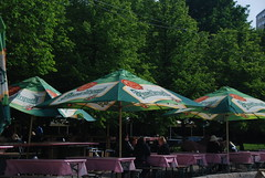 Sun's out but still cold (Let Ideas Compete) Tags: umbrella restaurant cafe sweden stockholm outdoor spirit soul tables essence scandinavia umbrellas kaffe brolly scandinavian boule kaf bers boulebers bersa sthm restuarang stkhm soulofstockholm spiritofstockholm