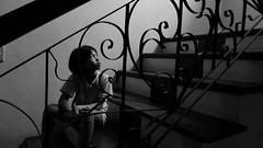 steps (.emong) Tags: portrait bw monochrome lumix philippines naturallight panasonic margarita marikina lx3