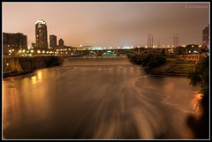 Saint Anthony Falls (Sri Dhanush) Tags: nightphotography bridge usa water minnesota river mississippi downtown nightlights minneapolis explore mississippiriver 1855mm twincities mn universityofminnesota stonebridge longexposures downtownminneapolis stonearchbridge saintanthonyfalls nikond40
