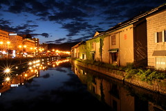 OTARU CANAL (Gp Teo) Tags: light reflection japan night canon canal hokkaido scene   otaru   unga    tamron1750mm  1000d