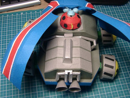 Time Mechabuton Papercraft 02