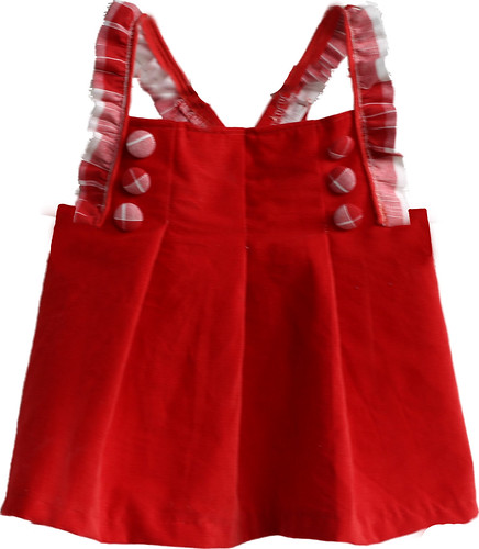 Grosgrain top in red