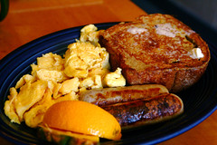 French Toast Sausage Eggs Breakfast 6-14-09 -- IMG_7269