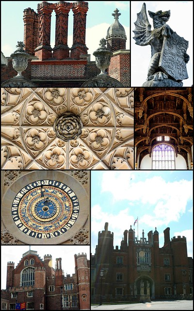Hampton Court Palace - collage