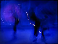 \ (Jean-Marc Valladier) Tags: blue light lightpainting black blur klein dancers move blueklein