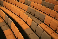 Patterns (JasperYue) Tags: color church yellow grey chair pattern order chairs patterns rows seats curve sanctuary topview xpt 匯點教會 crosspointchurchofsiliconvalley