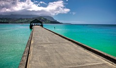 Piering into Paradise (Andy Beal Photography) Tags: ocean travel vacation bali hawaii bay pier nikon kauai hai hdr hanalei d90