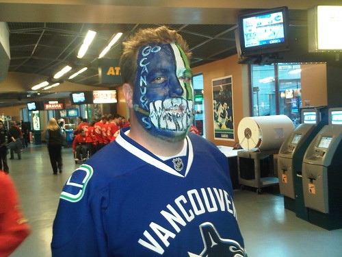 Cue the comeback #Canucks. Got my face painted #fb