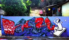 pegando migalhas (boicote) Tags: street brazil brasil de graffiti casa arte feira sp da rua roberto paulo so pintura boicote tera krust ganu dacasa faco