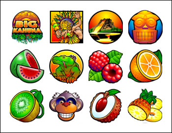 free Big Kahuna slot game symbols