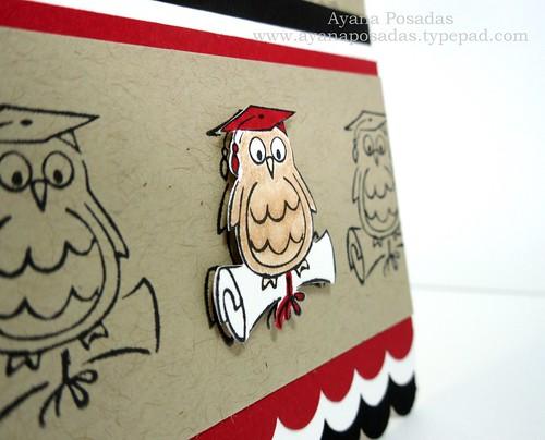 Graduation Owl- Red&Blk (4)