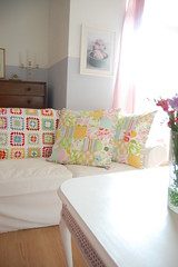 new patchwork cushions (whereyourheartis) Tags: patchwork cushion heatherbailey niceyjane
