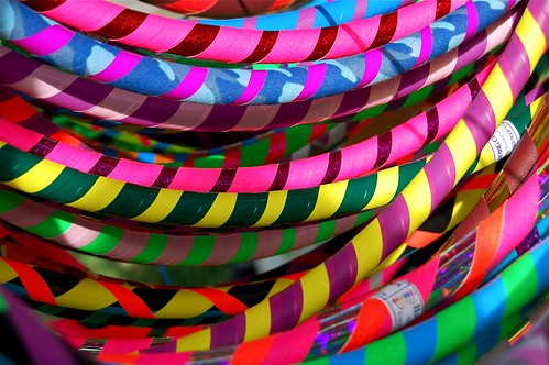 colorful hula hoops