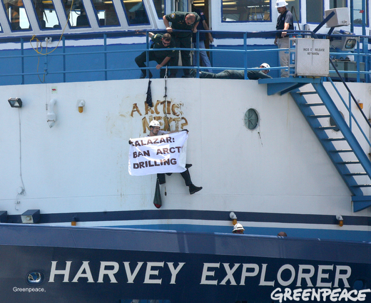 Activists Protest Shell Arctic Drilling Program