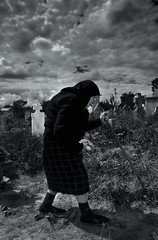 My journey is about to end. (alex crisan) Tags: cemetery oldwoman olt batrana cimitir blackwhitephotos oltenia osica