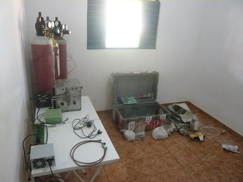 Laboratorio de campo - montagem