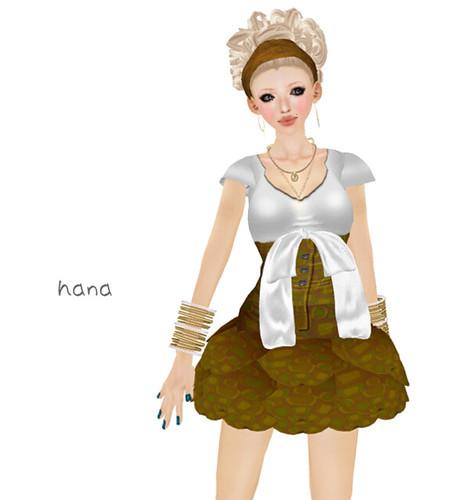 *kc*H High Wast OFD print mini dress(LB ver.)