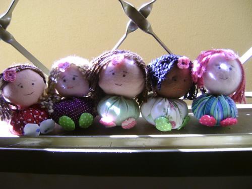 Bonecas de fuxico by Sweet by Carla