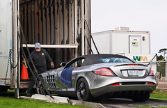Mercedes SLR 722S (GHG Photography) Tags: auto california slr car racecar silver photography mercedes benz automobile power engine automotive olympus german mclaren carmel pebblebeach expensive rare coupe exclusive supercar fastest sportscar horsepower roadster fastcar blackrims 722 mostexpensive hypercar e520 722s ghgphotography