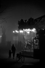 Foggy Christmas part 2 (ozio-bao) Tags: bw white black 20d fog night canon dark lights sigma lucca 17 luci nebbia 70 bianco nero notte gettyimagesitalyq1