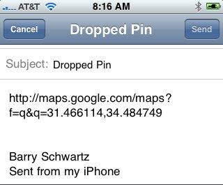 Google Maps Drop Pin Long Latitude