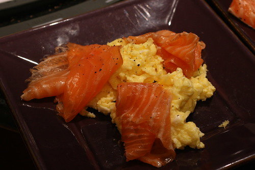 lox and scrambled eggs