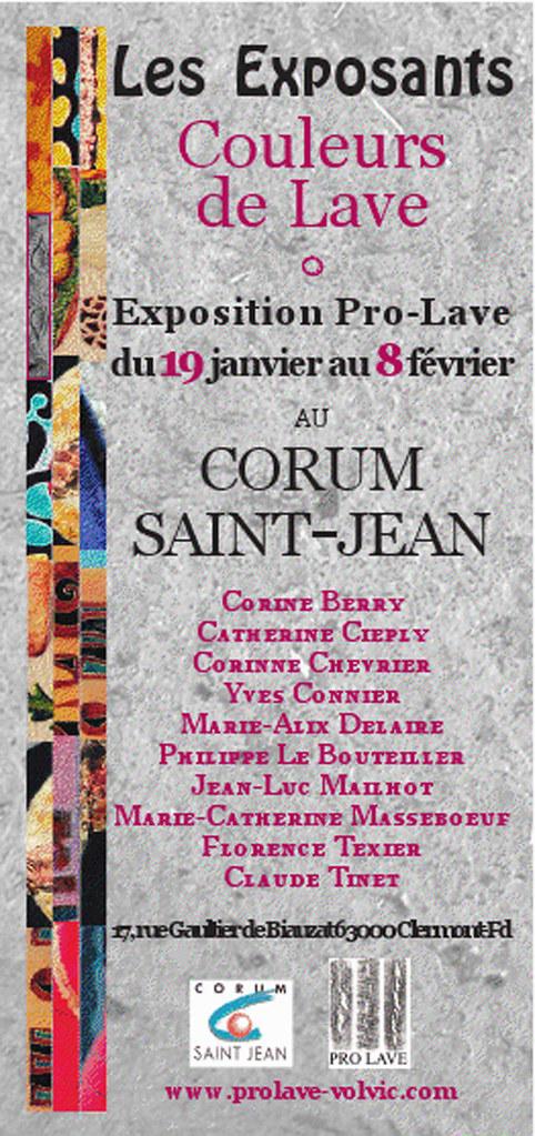 Exposition Couleurs de lave au Corum st Jean