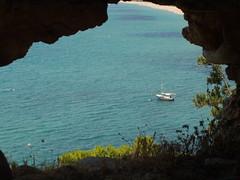 Hole in the wall (Gregelope) Tags: sea nature water beautiful earth greece views doorways ellada