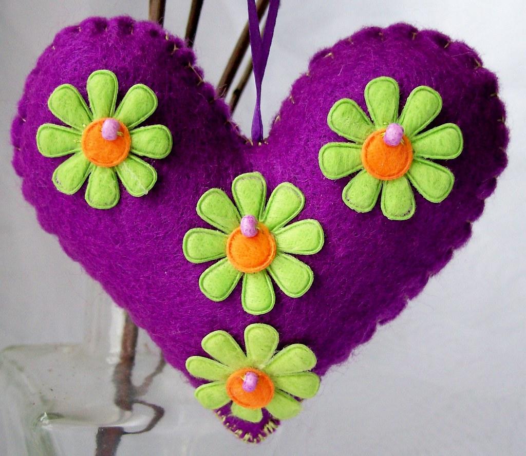large flower purple heart