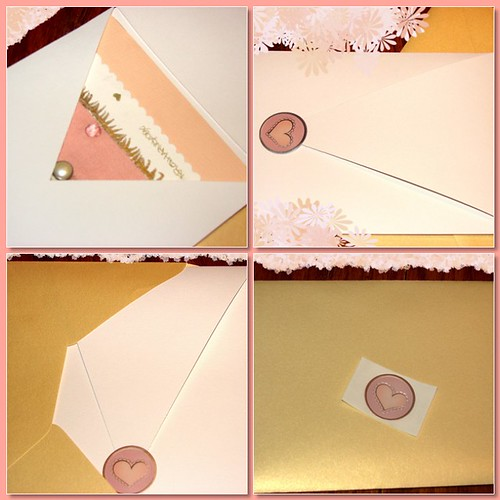 Pink card easel set
