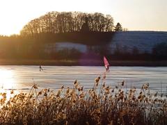 Ice Surfer (kosare) Tags: winter ice bayern bavaria eis ebersberg egglburgersee