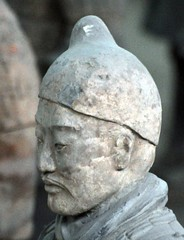Warrior of the First Emperor (JohntheFinn) Tags: china sculpture statue xian terracottawarriors patsas terracottaarmy veistos kiina qinshihuangdi terrakottaarmeija