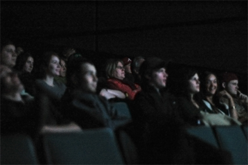 The rapt audience.