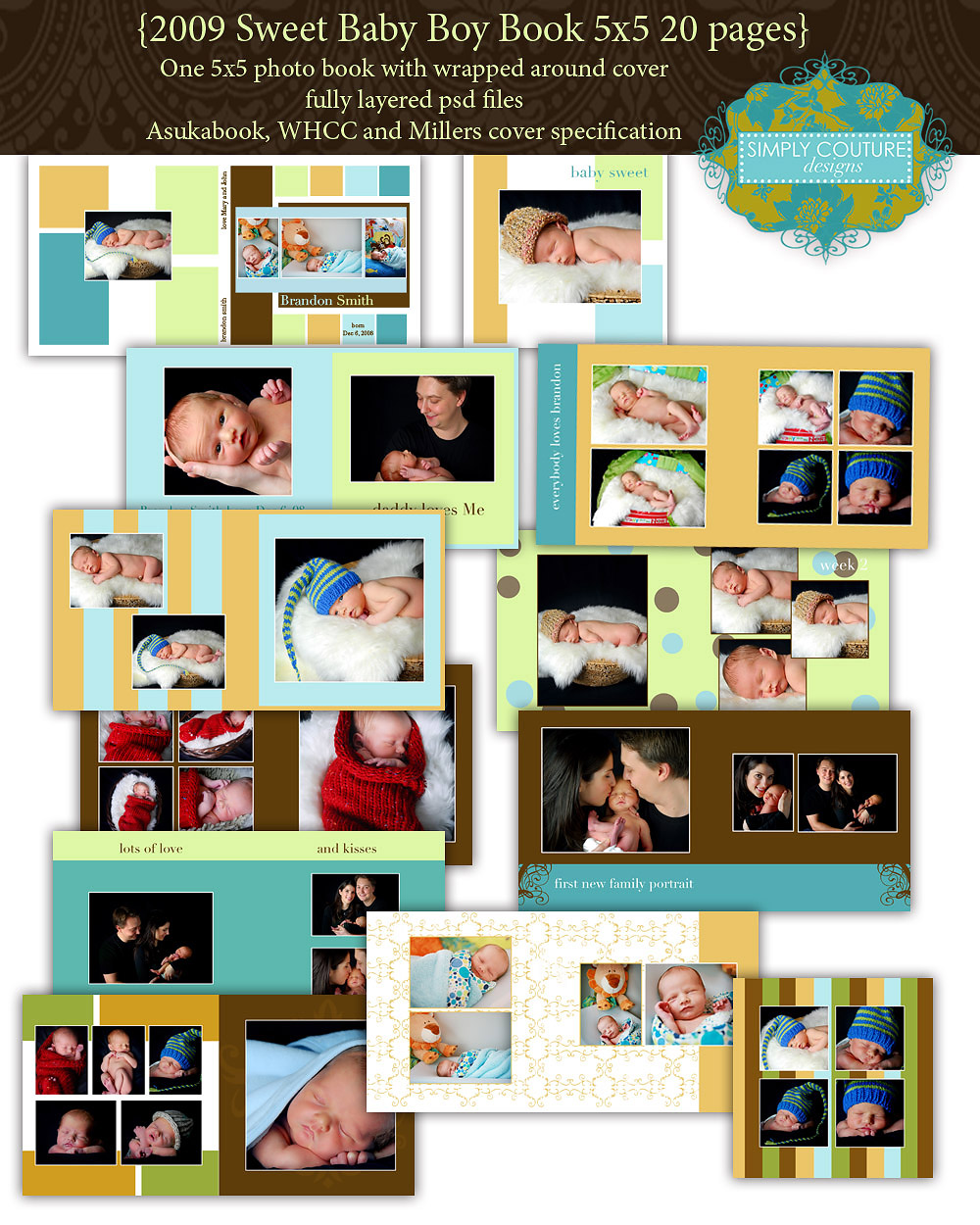 2009 Sweet Baby Boy 5x5 Coffee Table Book