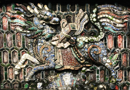 Mosaic lion-dragon-horse (never sure what these are) - Hue, Vietnam